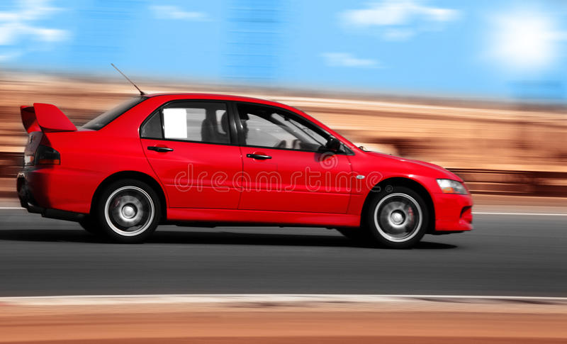 Red sport car royalty free stock photos