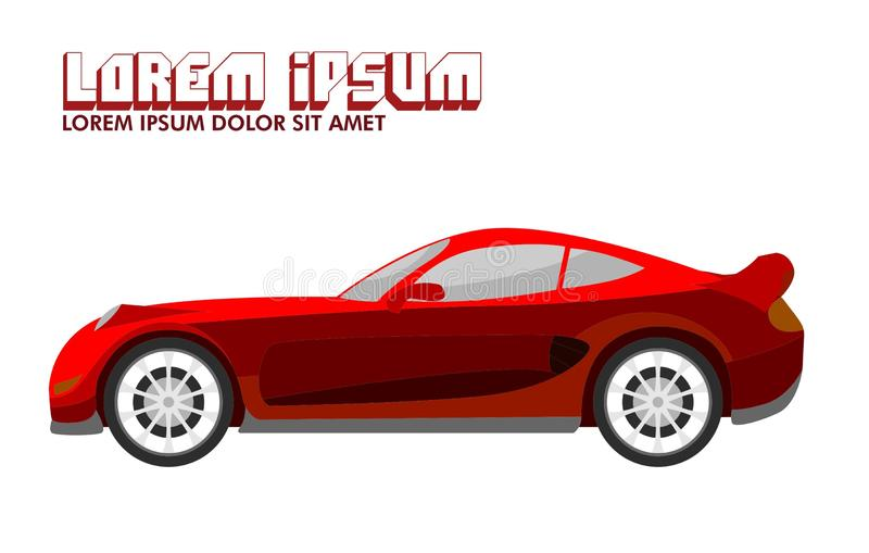 Red Sport Car Illustration stock illustration