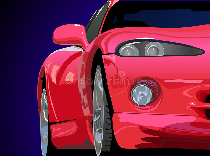 Red Sport Car Vector Royalty Free Stock Photography