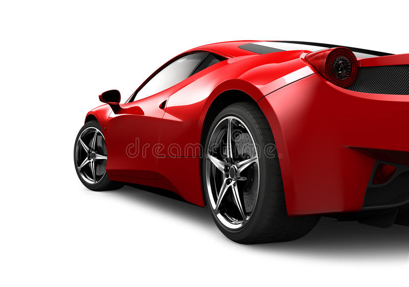 Download Red Sport Car On White Background Stock Image   Image Of Sport,  Auto: