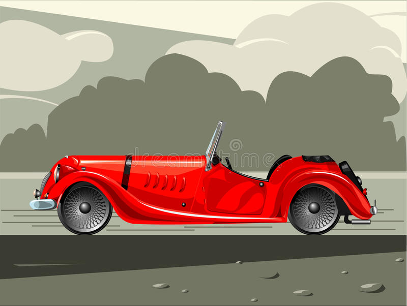 Red sports car. Illustration of red sports car vector illustration