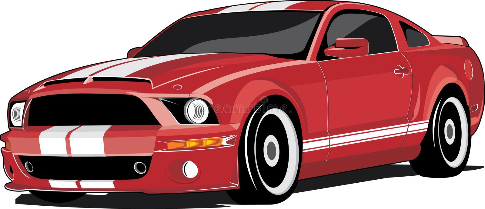 Red Sports Car Stock Vector. Illustration Of Drawing - 16517639