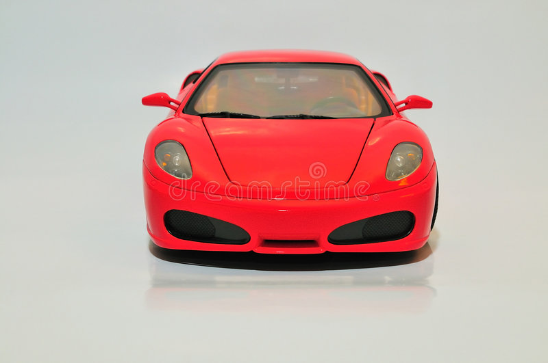 Red Sports Car. Front view of a red model sports car stock images