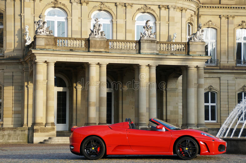 A red sports car from Maranello stock photos