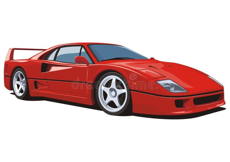 Red sports car stock illustration