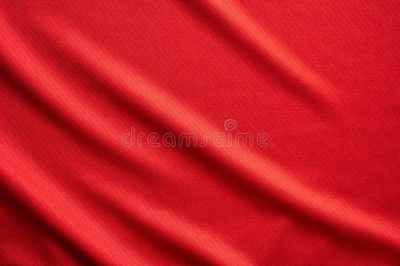 Red sports clothing fabric football jersey texture royalty free stock photography