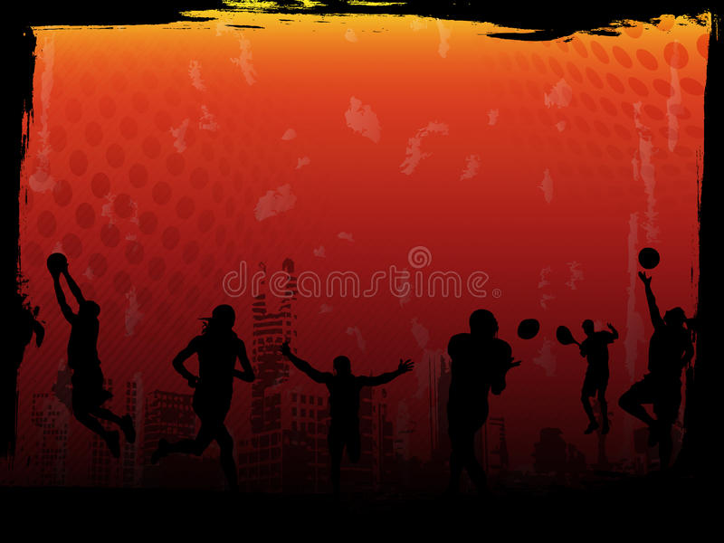 Red Sports Vector Background. Vector image of urban sports atmosphere, best for backgrounds and templates royalty free illustration