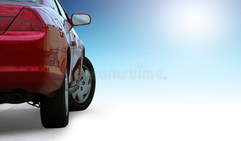 Red Sporty Car Detail Royalty Free Stock Photos