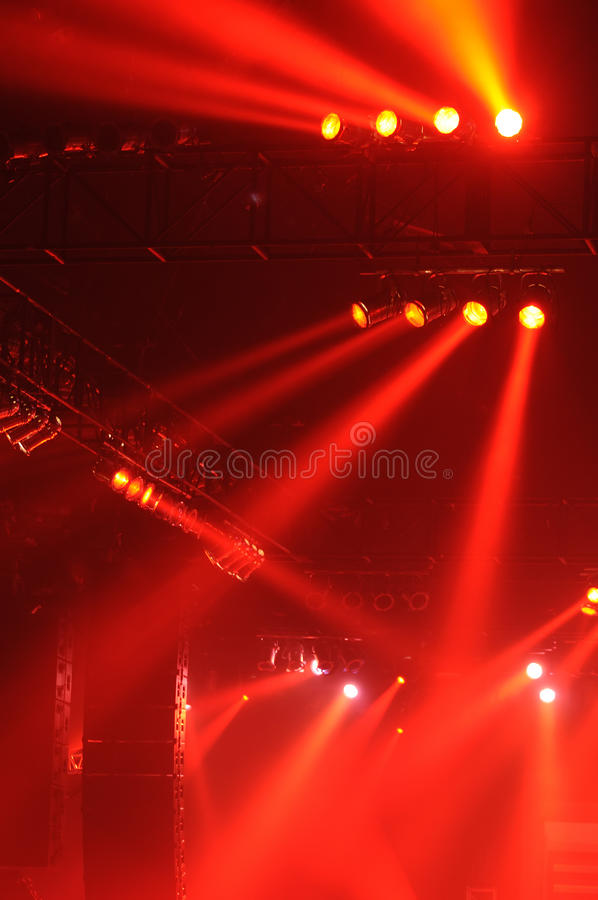 Red spot lights stock image