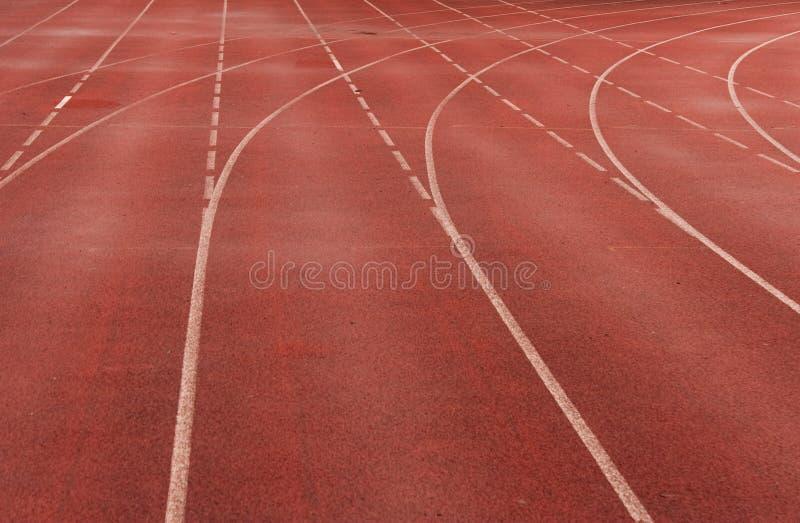 red sprintar spåret royaltyfria foton