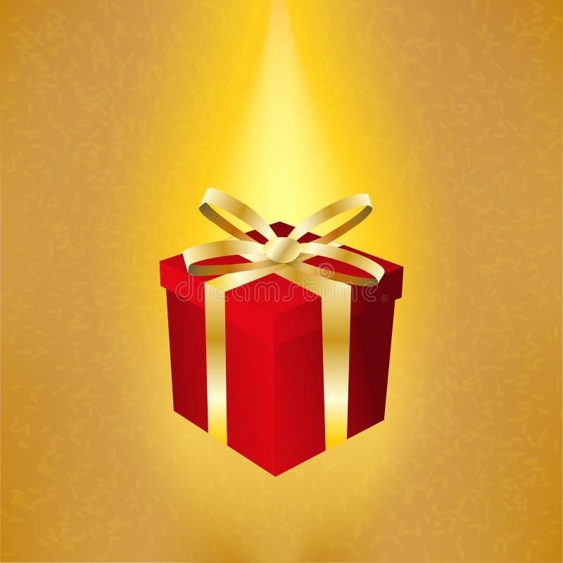 Red square gift box stock illustration