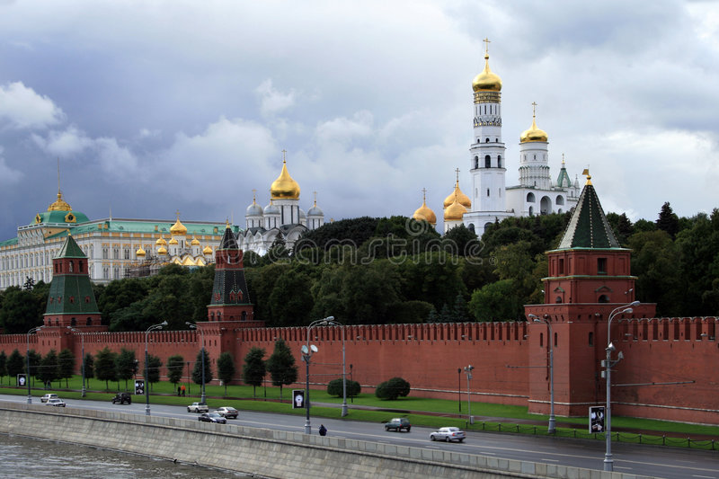 The Red Square. Great Jons's Bell Tower. Moscow, Russia stock photo