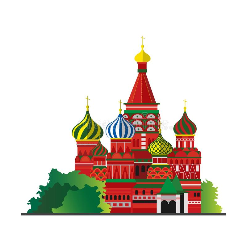 REd Square Moscow Russia travel tourism vector illustration