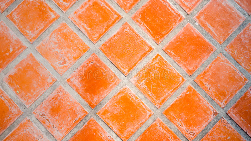 Red Square Tile. A Red Square Tile Pattern stock image