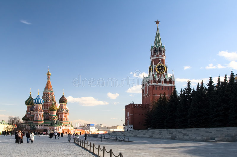 Red Square view. Moscow.Russia royalty free stock images