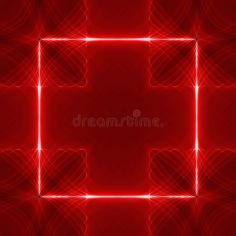 Download Red square wave back stock illustration. Image of abstract - 1551483