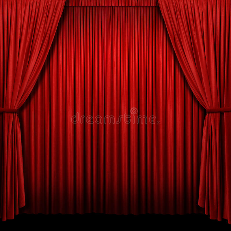 Download Red Stage Curtain stock illustration. Illustration of curtain - 12834817