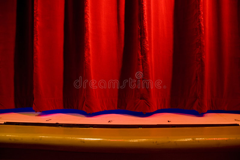 Download Red Stage Curtain stock image. Image of light, hang, pleats - 3039717