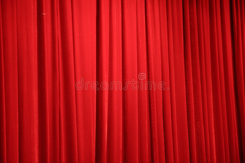 Red stage curtain royalty free stock image