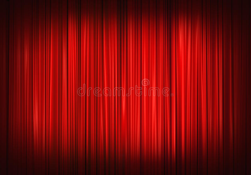 Red stage curtain royalty free illustration