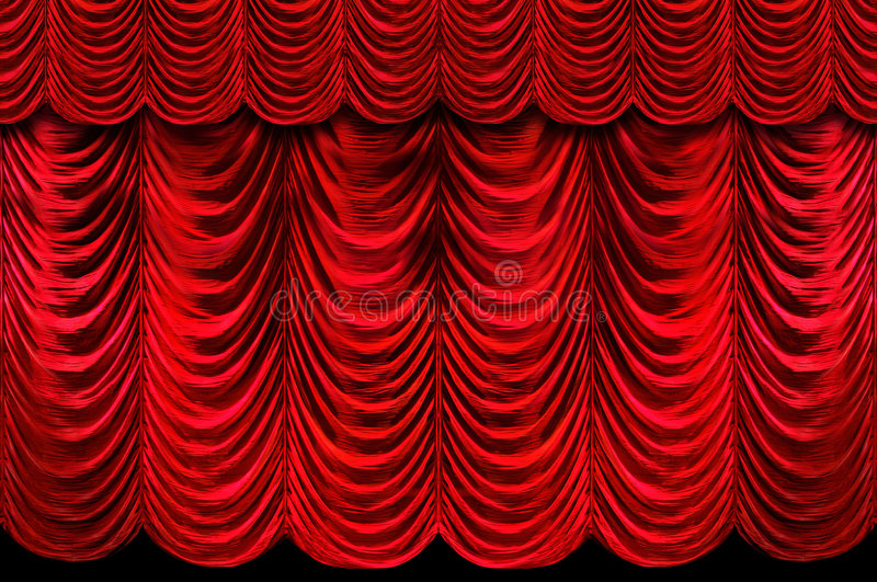 Red Stage Curtains royalty free stock images