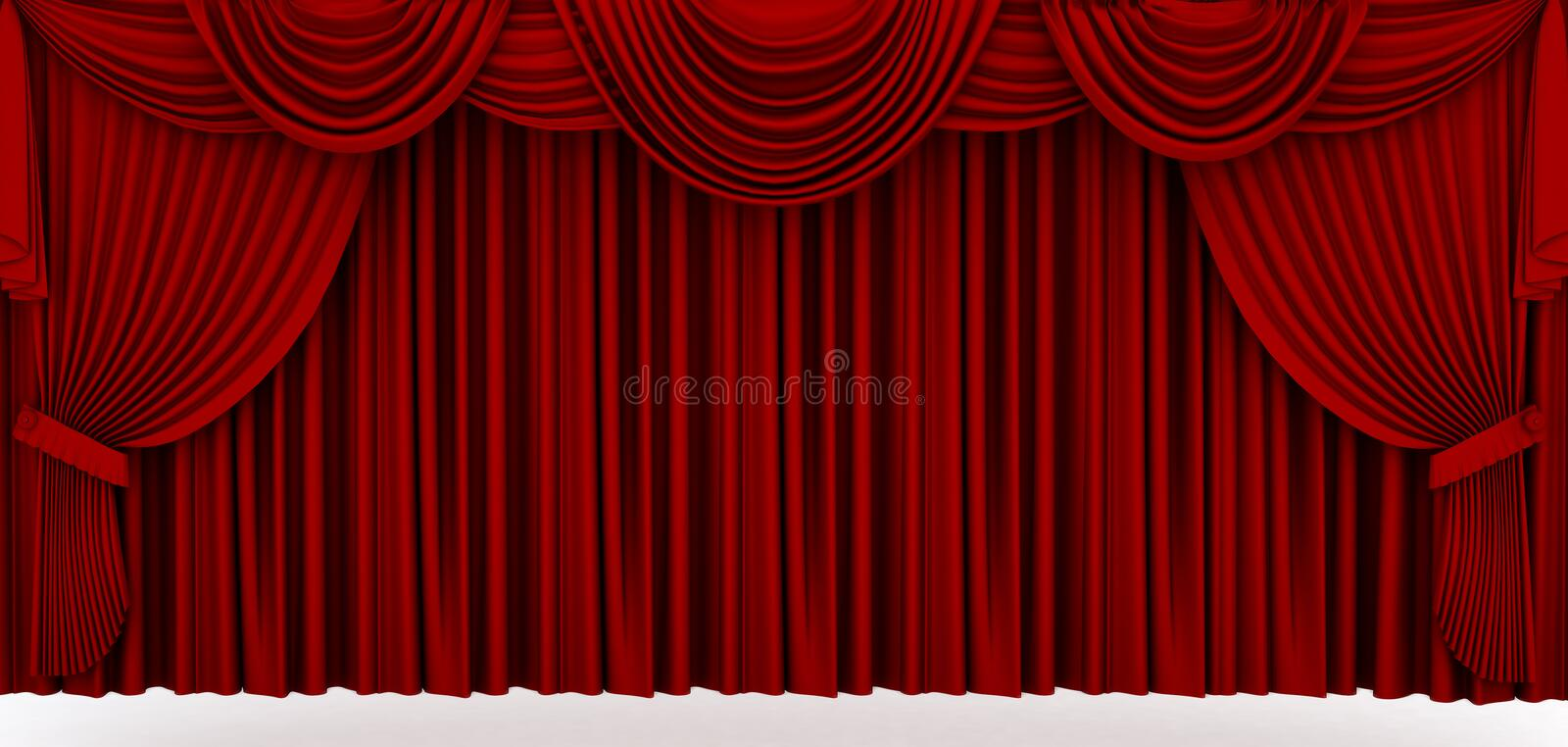 Red stage drapery vector illustration
