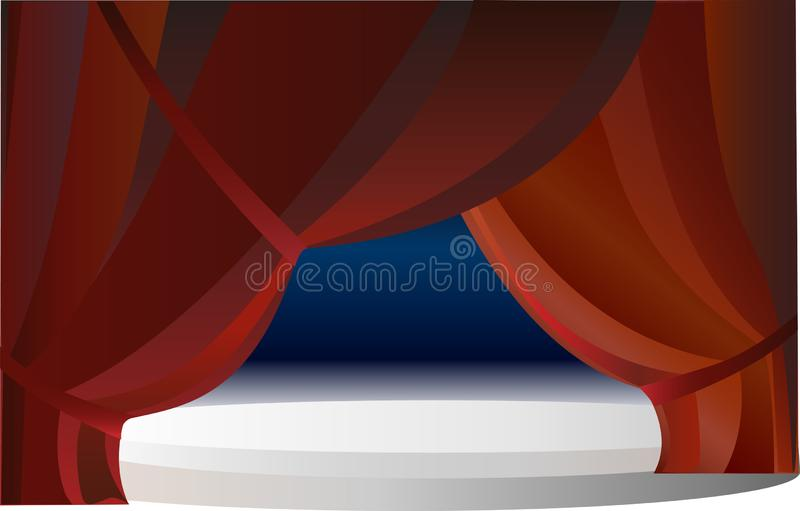 Red stage drapery with ice royalty free illustration