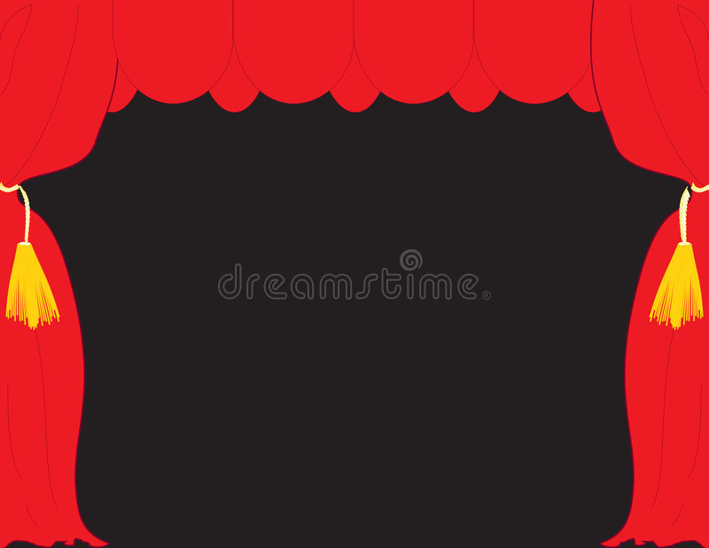Download Red stage theater stock vector. Illustration of cloth - 3283808