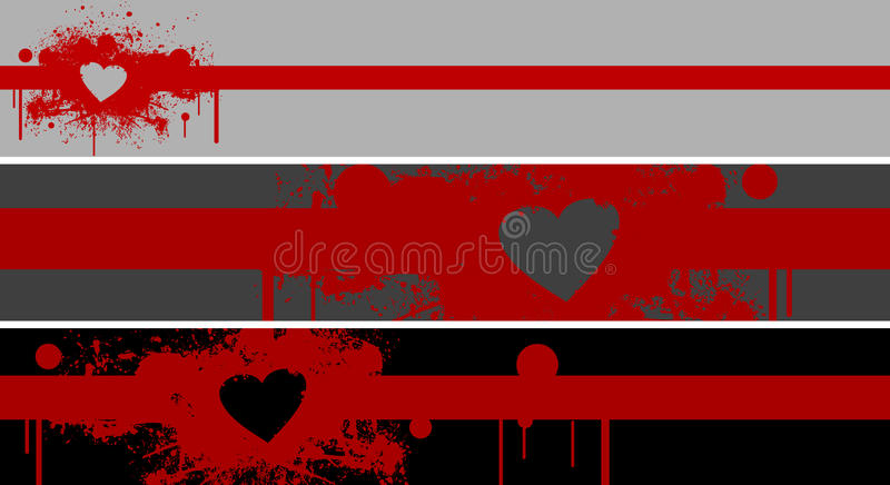 Download Red stain and heart stock illustration. Image of retro - 18601262