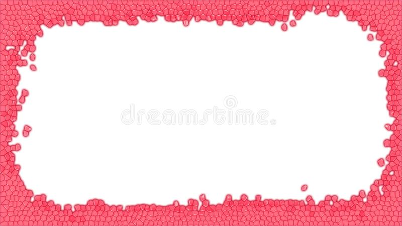 Red Stained glass frame illustration stock photo