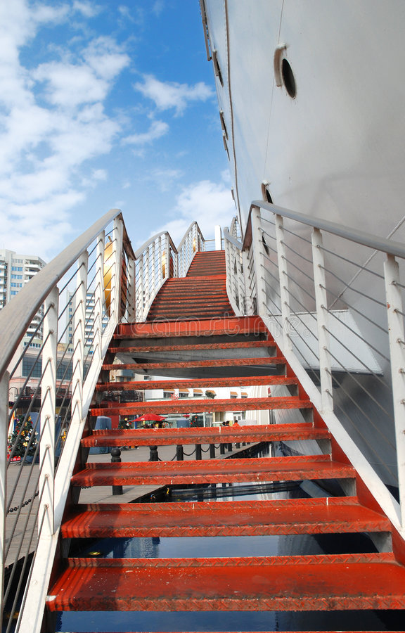 Download Red Stairways stock image. Image of urban, blue, board - 7395993