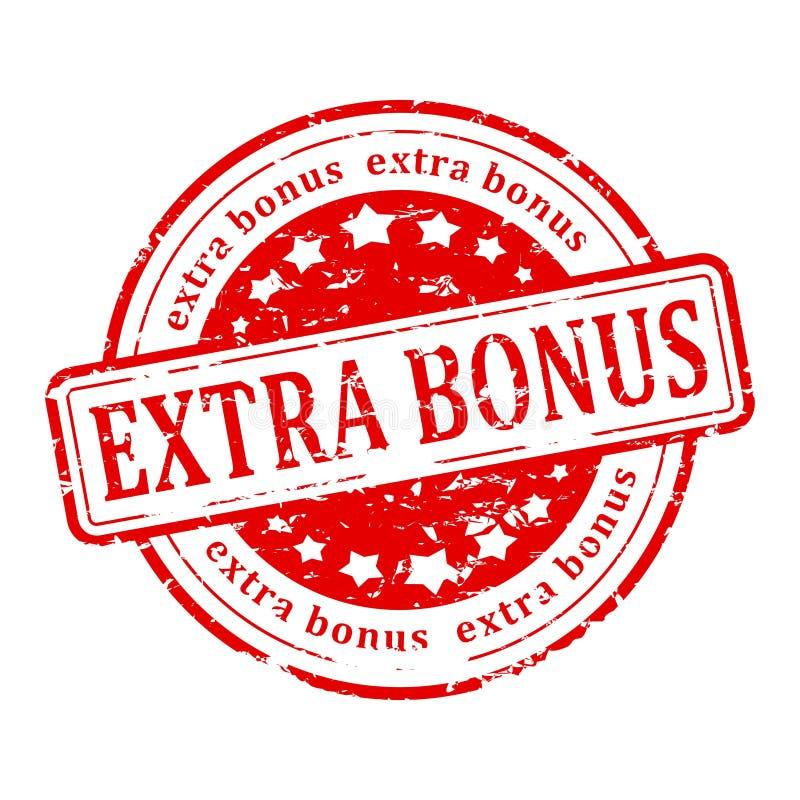 Red stamp - extra bonus stock illustration