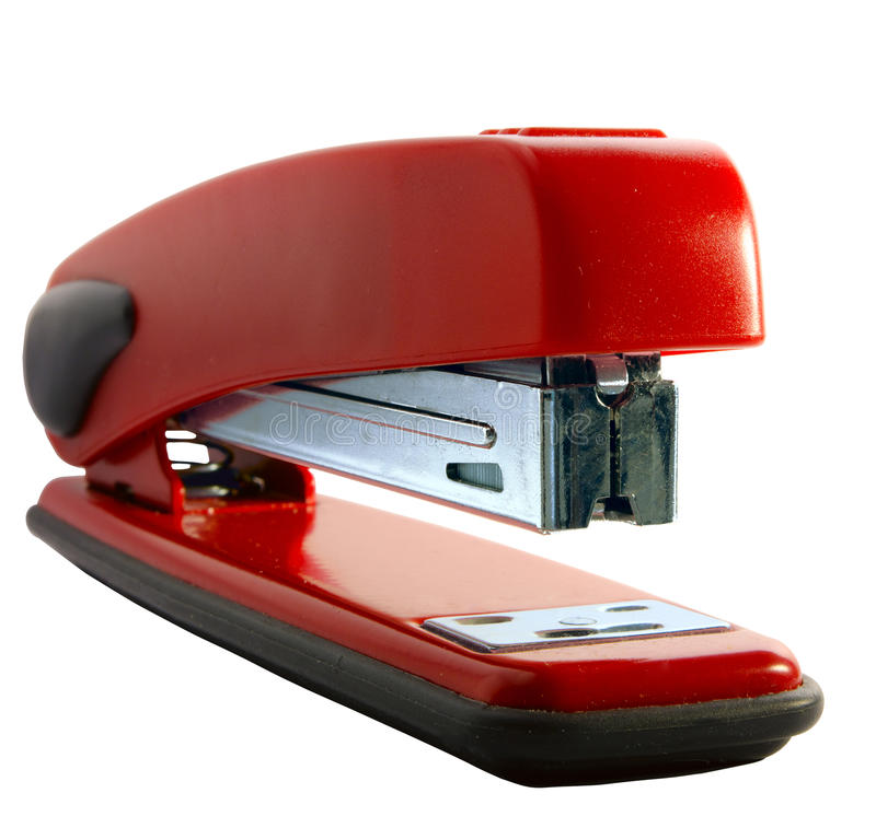 Free Red Stapler Royalty Free Stock Photography - 13803607