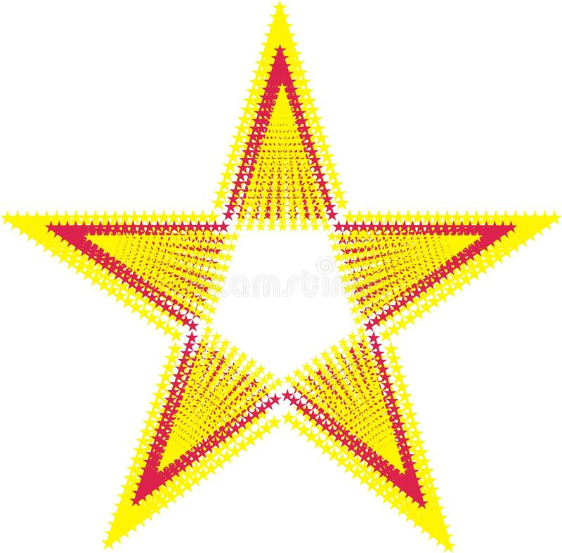 Download Red Star stock illustration. Image of deco, olive, fashioned - 12307444