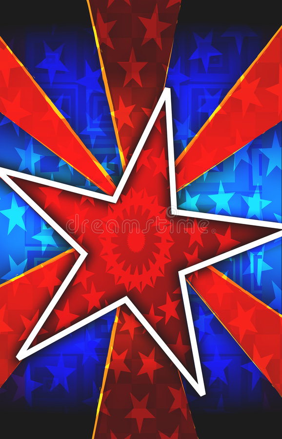 Red Star Burst Background Royalty Free Stock Images