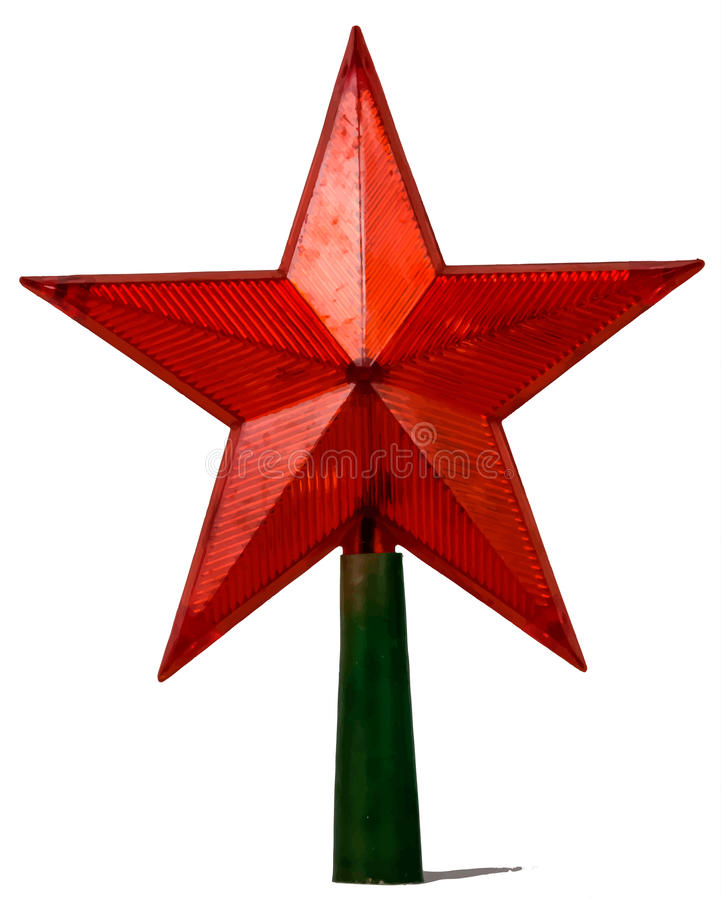 Red star isolated on white stock image
