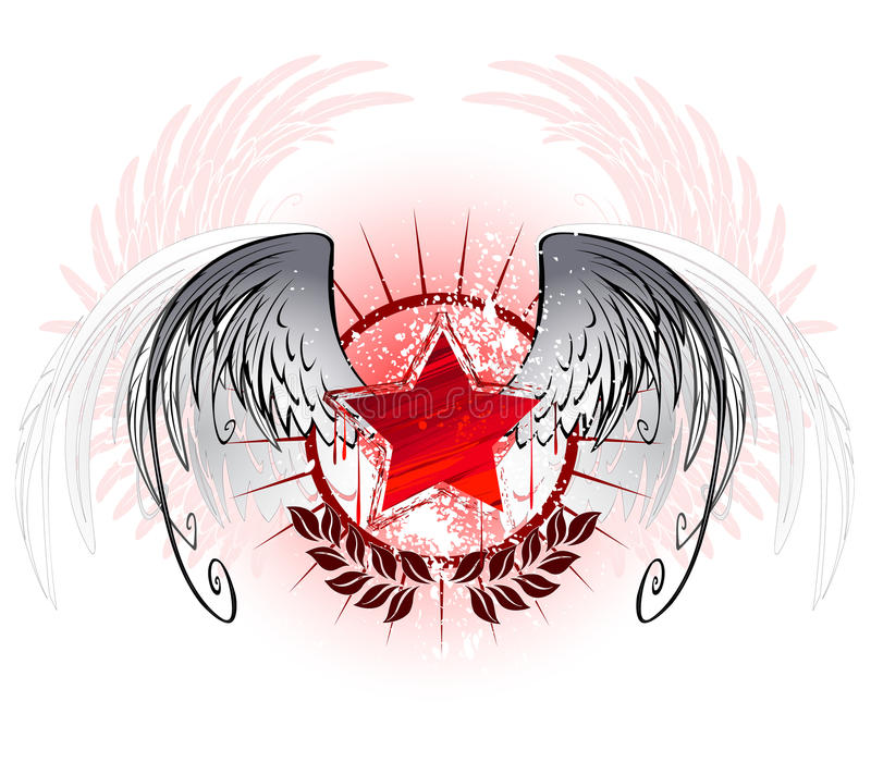 Red Star Painted With Paint Stock Photography