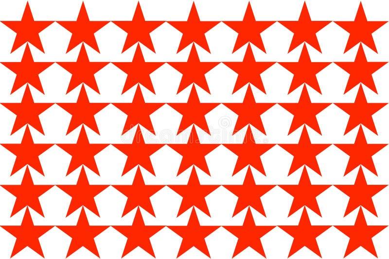 Red Star-Patroon op witte Naadloze Illustratie als achtergrond Modern ontwerp Kan voor zaken, website en andere worden gebruikt stock illustratie