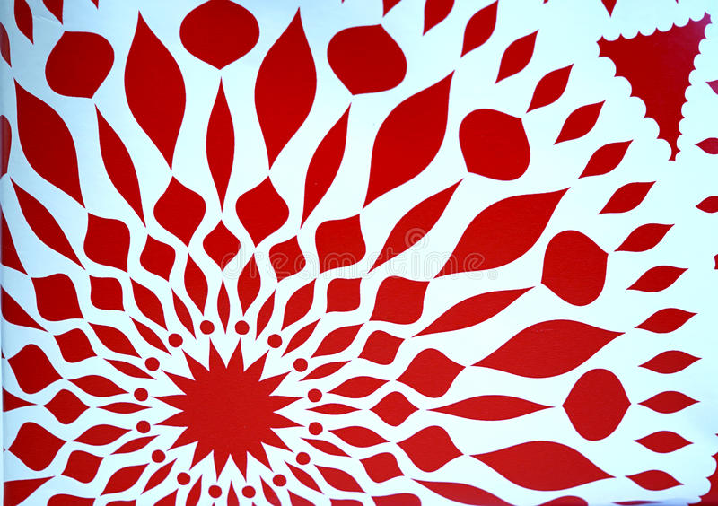 Red star symmetry abstract royalty free stock photography