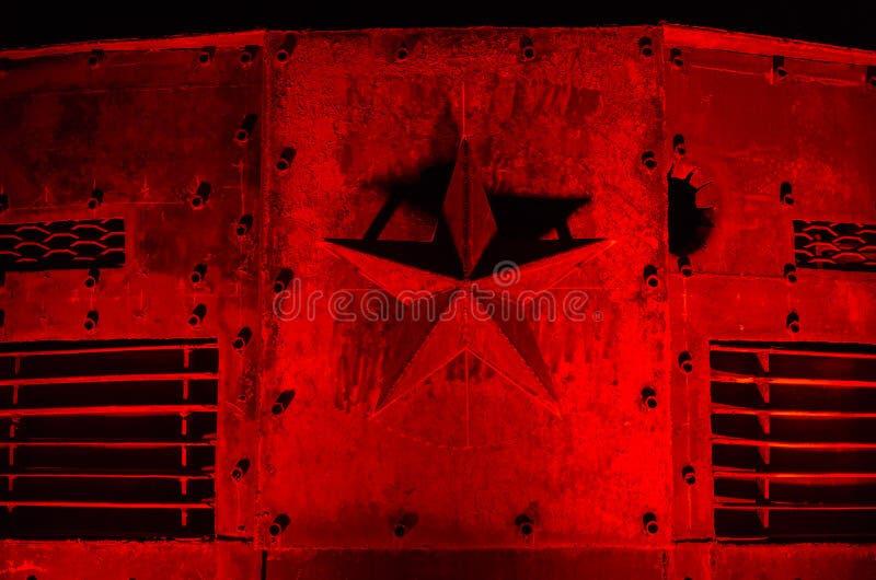 Red Star van staal royalty-vrije stock foto