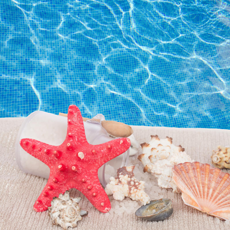 Download Red Starfish With Sea Spa  Setting Stock Photo - Image of relax, life: 39514390