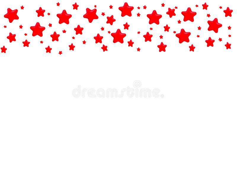 Red Stars pattern. Red stars on white background with copy space royalty free illustration