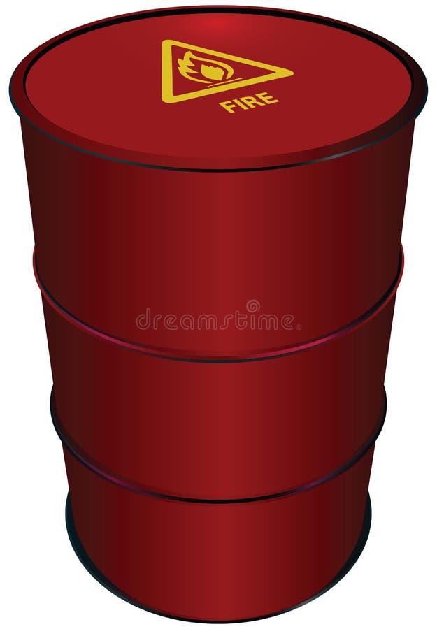 Red Steel Barrel royalty free illustration
