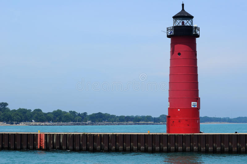 Red Steel Lighthouse stock images