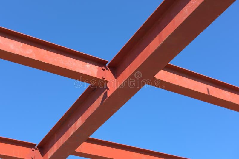 Red of steel structure. Red of steel structure, Steel structure erection stock photos