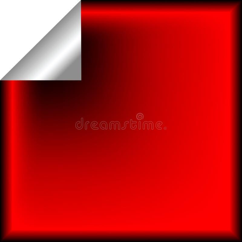 Red Sticker Stock Photo