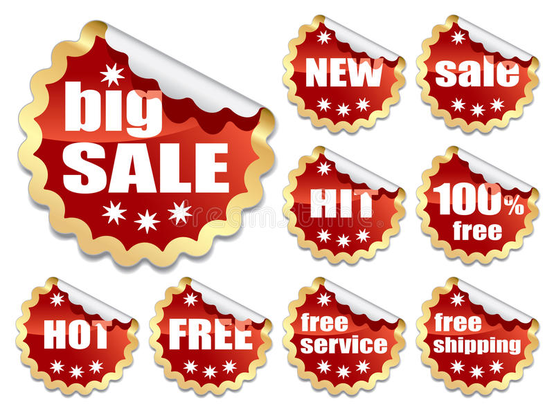 Download Red Stickers Royalty Free Stock Photography - Image: 27072167