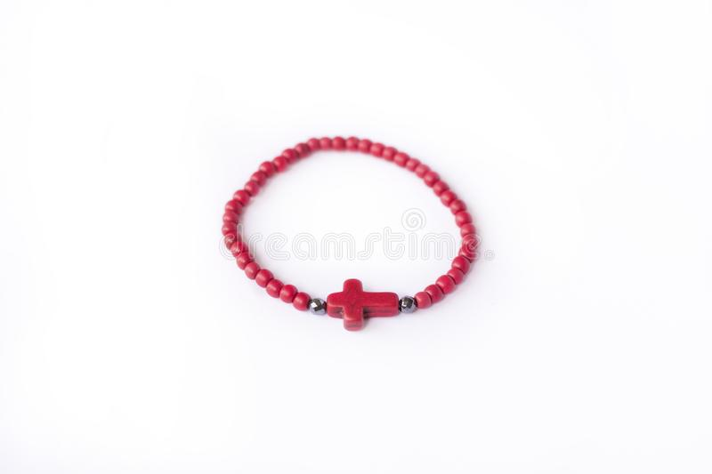 Red stone bracelet stock photos