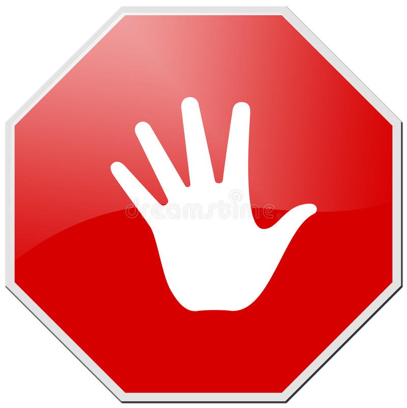 Red Stop Royalty Free Stock Photos