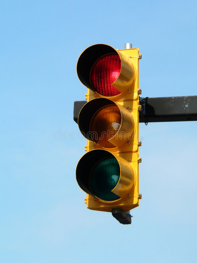 Download Red = stop stock photo. Image of lights, transportation - 205020